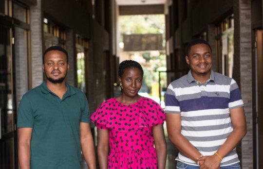 Our leadership team- Augustino (L), Hyasinta, Ema