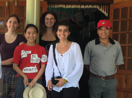 Marcela (center) raised funds for Mr Thin