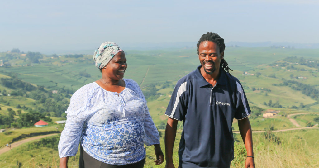 Mrs. Ngcobo and Sandile Dlamini