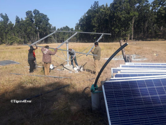 Constructing a Frame For a Solar Powered Waterhole
