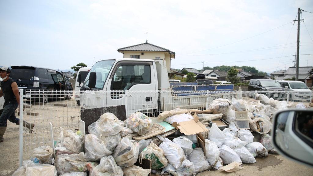West Japan Flooding Relief in Kurashiki, Okayama