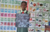 Give Education Materials To 80 Children