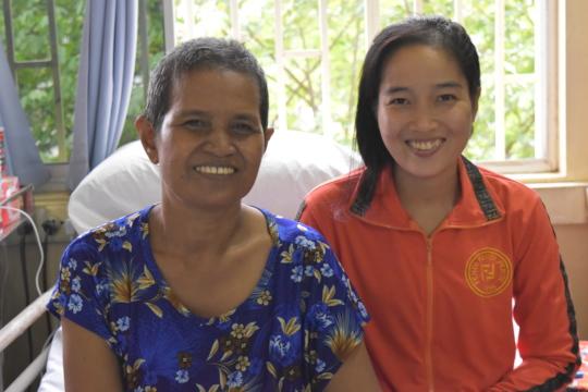 Mrs. Nun treated on Surgical Ward