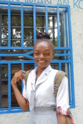 Cristelle at the YWCA Haiti Center