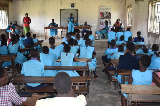 Girls and Boys debating on girl child protection