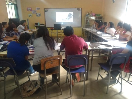 Teachers & principals viewing GR film content