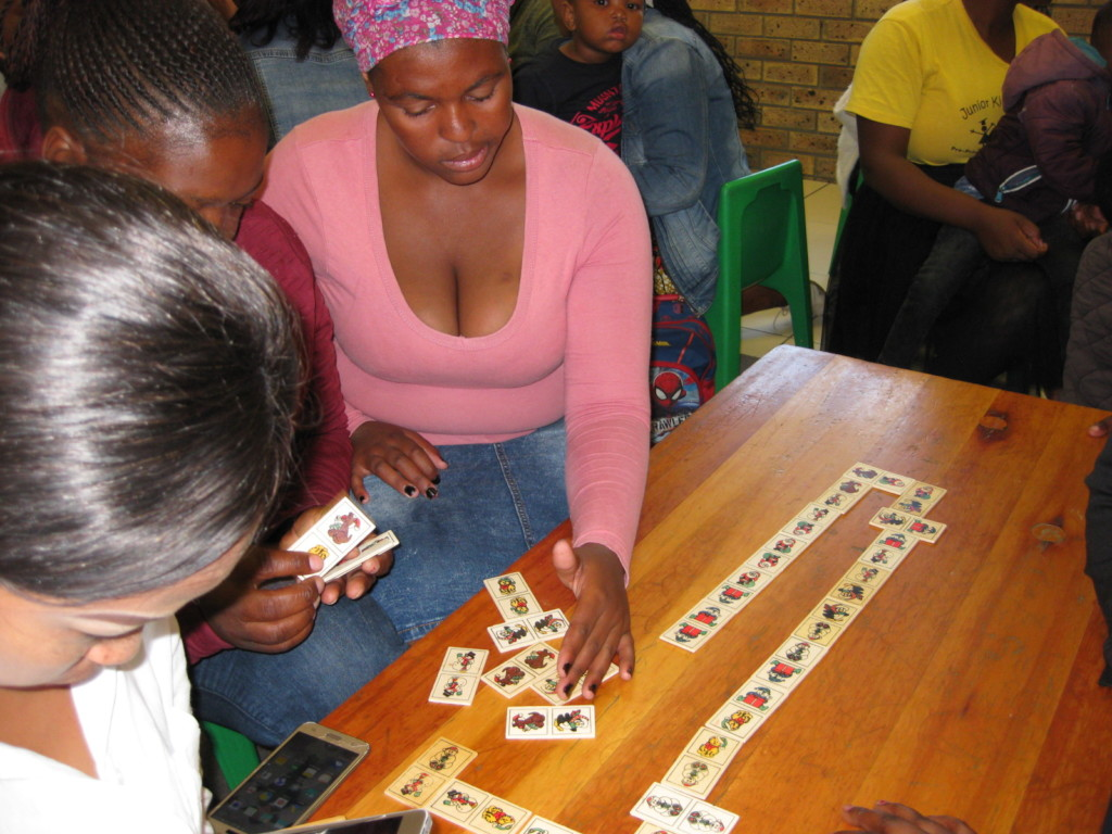 Eager parents learn games they can play at home