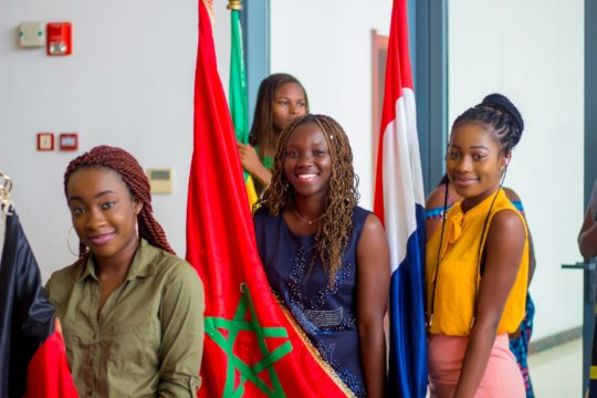 2018 IUGB Graduation Flag Bearers