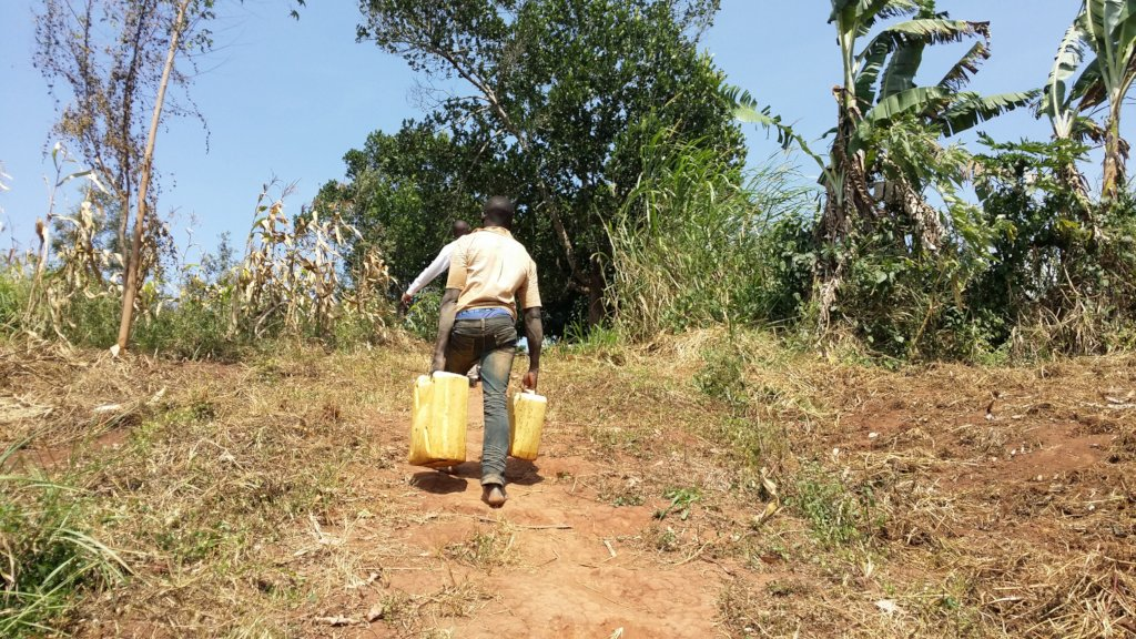 Spring water source maintainance for 300 in Uganda