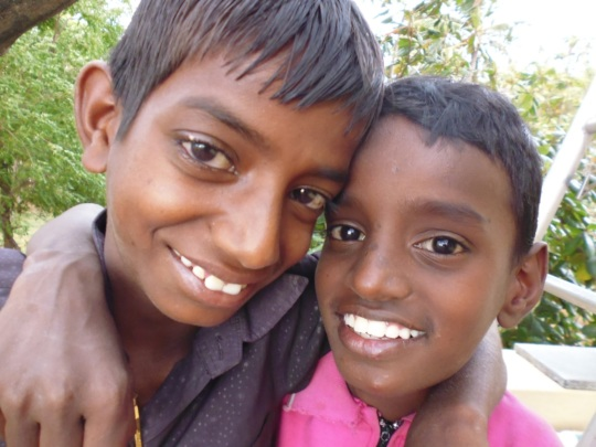 Siva and Manoj before their mum died 5 years ago