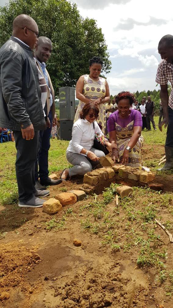 Laying the cornerstone for Mwani Nasirali Centre