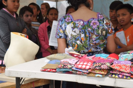 Reusable pads on display at the fair