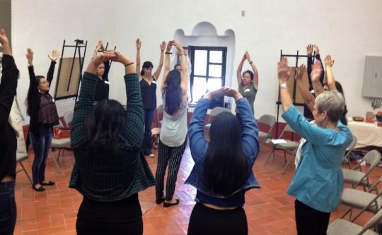 Stretching during Teacher Training