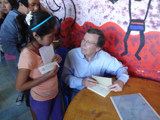 Panchito signing books in 2013