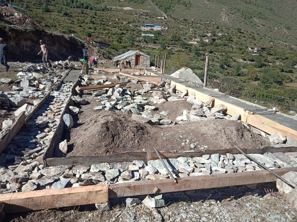 Canteen/kitchen foundations