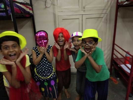 PROP ACTIVITY - SEVA SADAN GIRLS IN CLASS