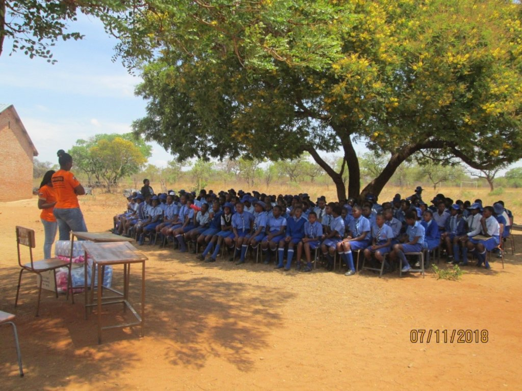 Menstrual Hygiene Lesson Before Pads Distributions