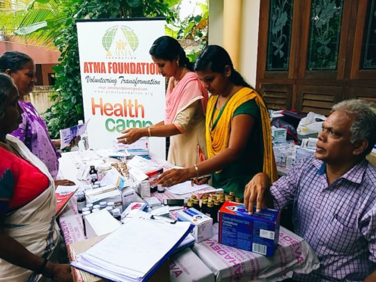 Health Camp & Free Medicines to Flood Victims