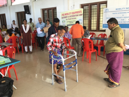 Free Mobility Aids Given to Flood Victims