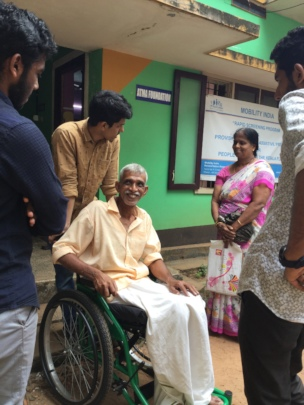 Free Mobility Equipments to Flood Victims