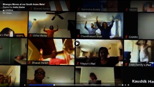 Participants dancing at our South Asian Mela!
