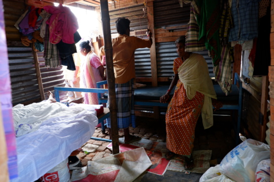 Coat, Bed and Bed Linen distribution at Slum