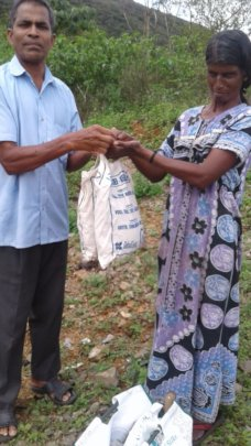 Materials given to tribal people in Kumily area