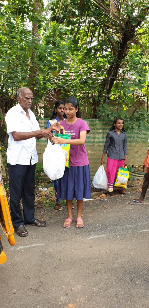 Relief material distribution
