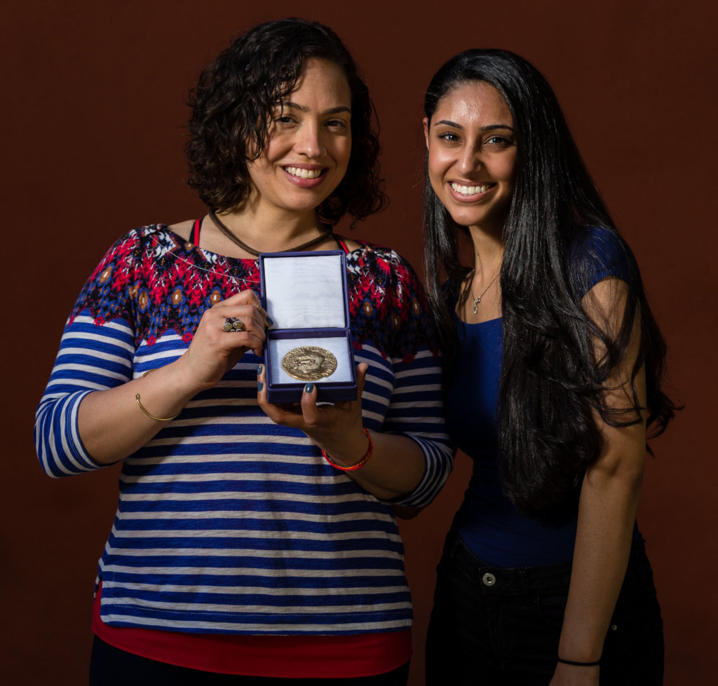 Rebecca Irby and Myrna Nakhla with the ICAN Nobel