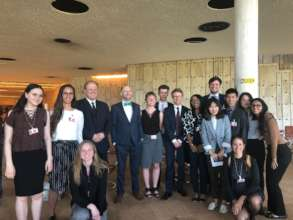Youth Delegates Speaking with Diplomat in Geneva