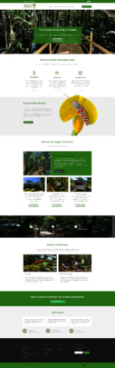 Sample page from new Forest bilingual website