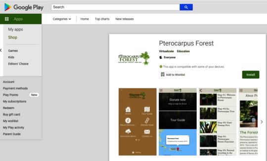 Android Pterocarpus Forest Tour App