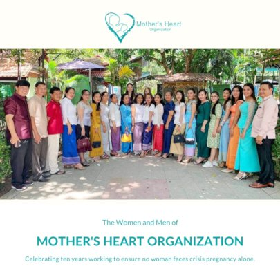 Mother's Heart staff souvenir photo