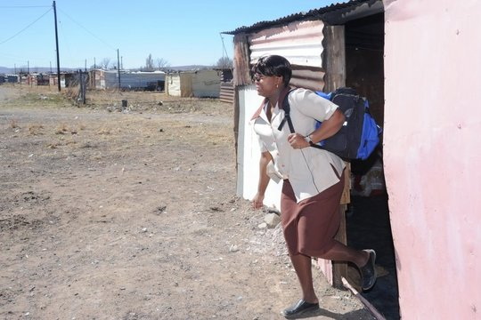 A Topsy Health Worker in action in the community