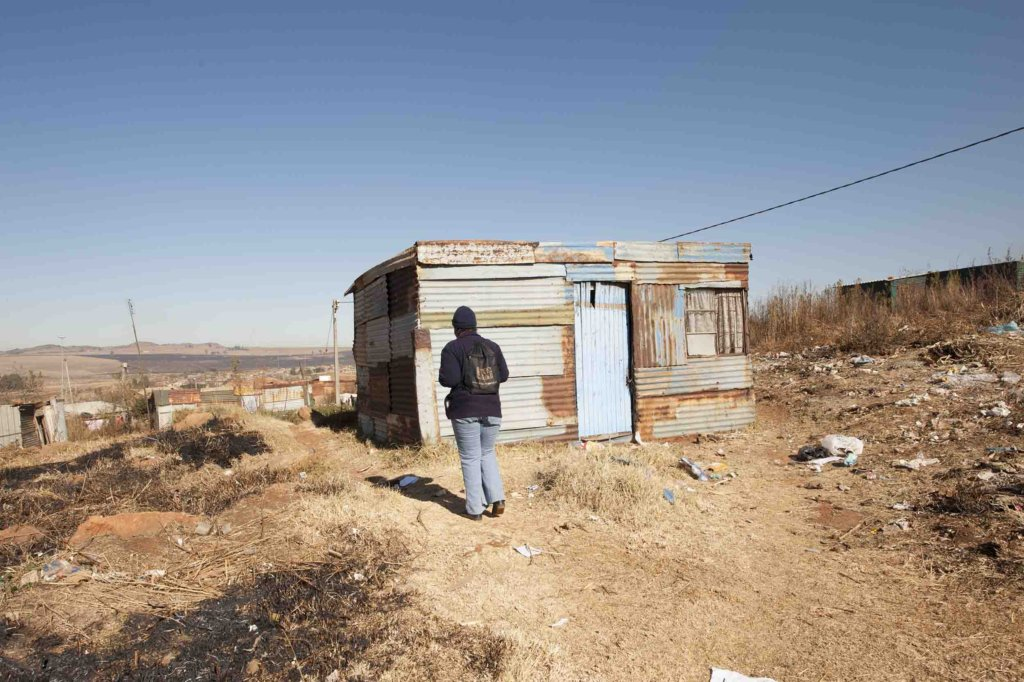 An informal dwelling in rural Mpumalanga