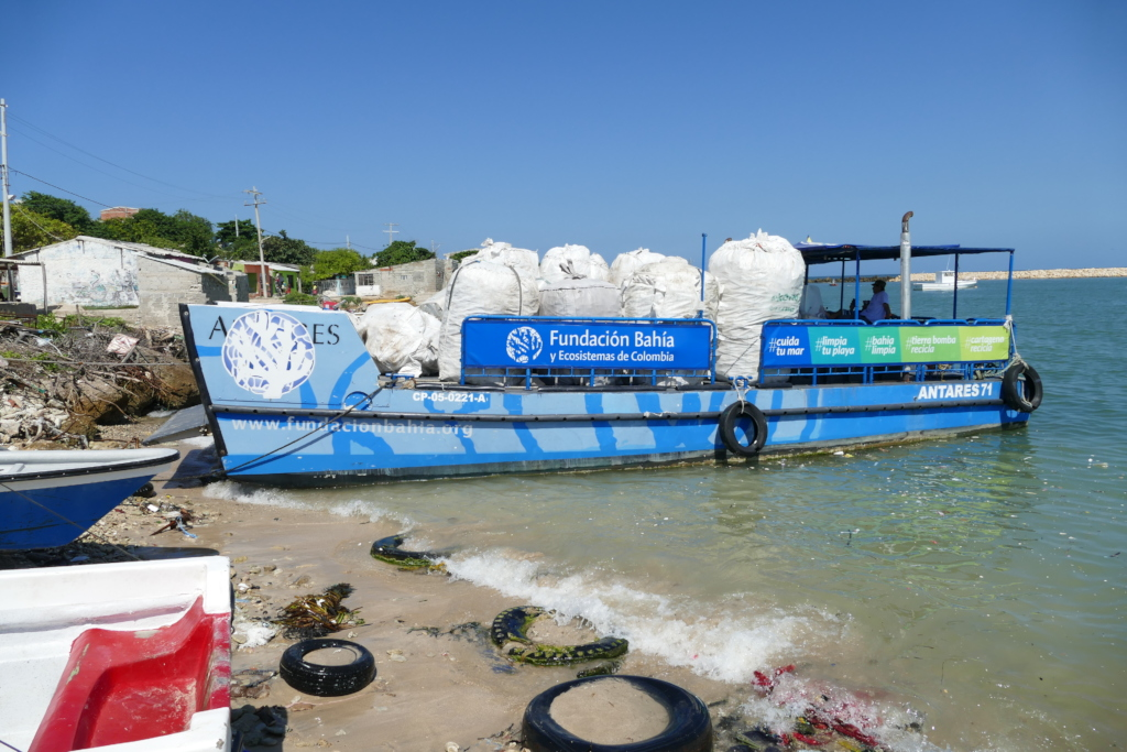 Antares 71 transports recyclable waste to mainland