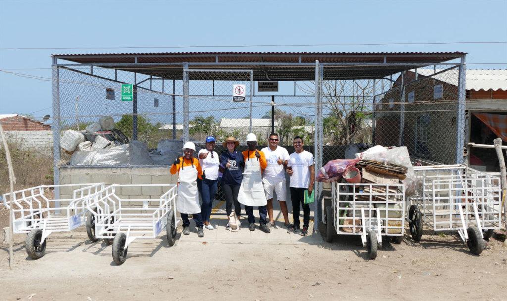 The temporary storage facility in Tierra Bomba!