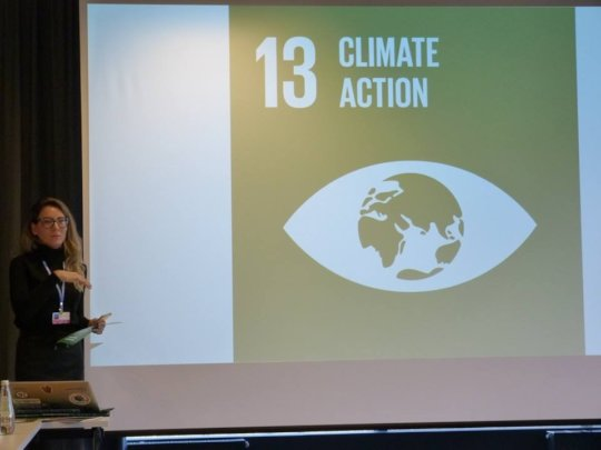 Jessica participating in the COP24