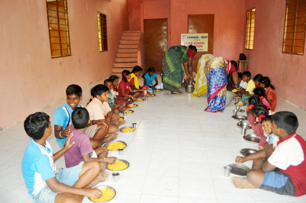 Dinner to tribal children