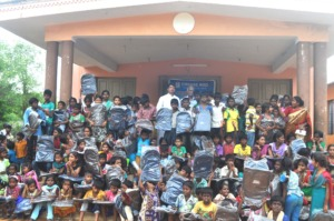 School bag distribution