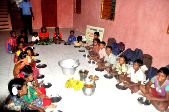 Food to tribal children