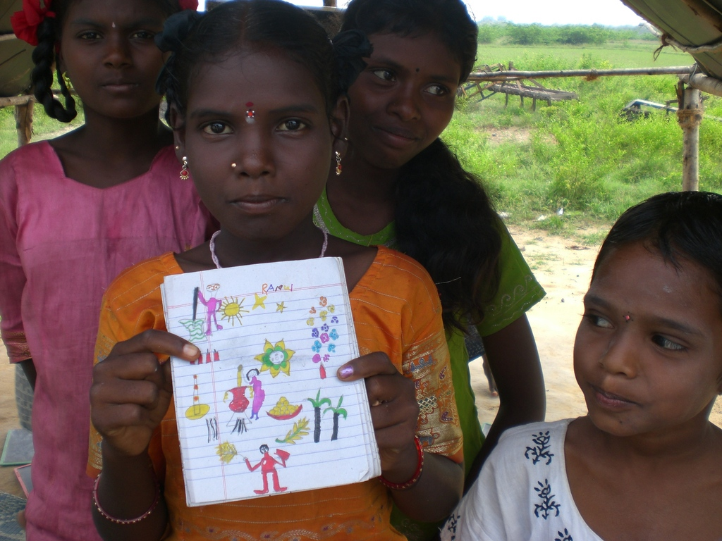 Drawings of tribal children