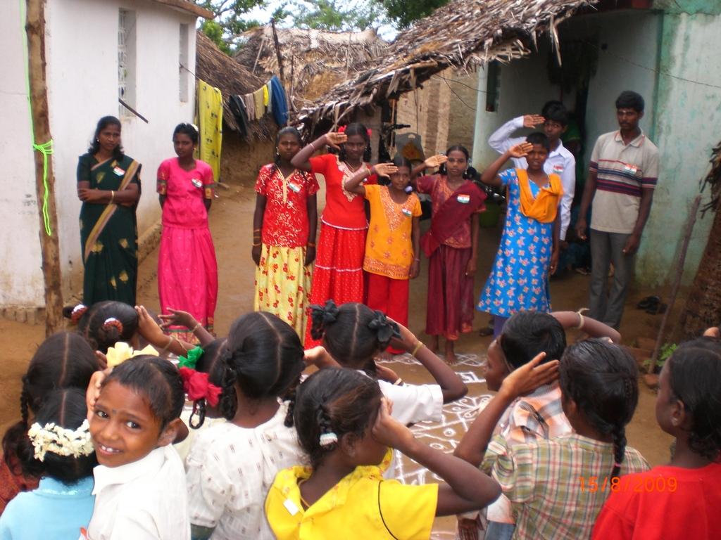 Independence day celebration at Perambakkam tribal school