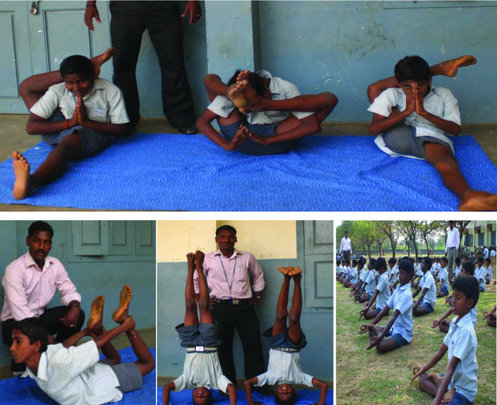 Yoga practice to children