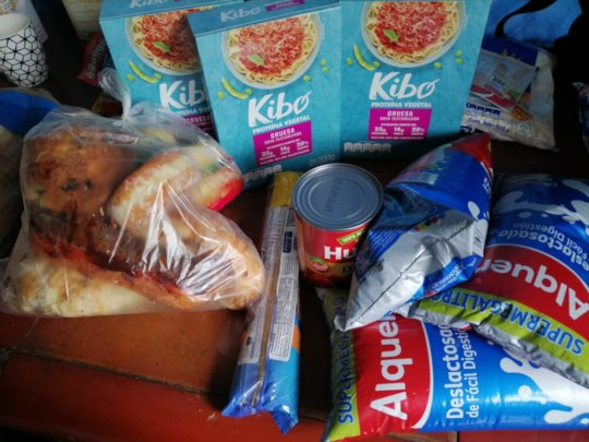 Basic Groceries provided to the affected families