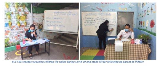 SCC-CBE teachers teaching children via online