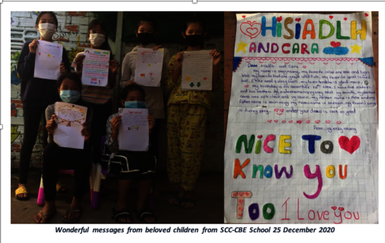 Wonderful messages from children from SCC-CBE