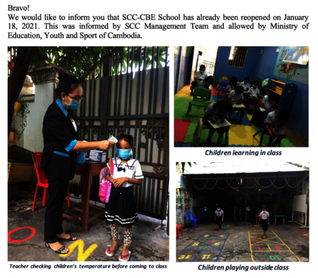 Children start learning again  when school reopen