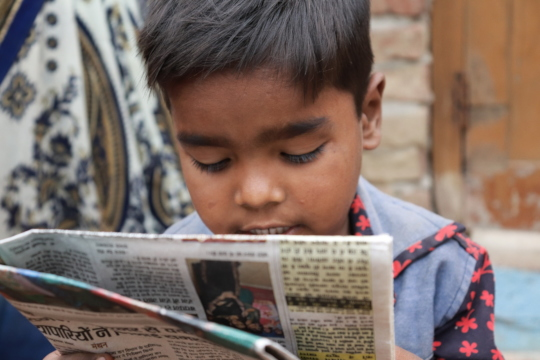 Priyank becomes first in his family to read&write