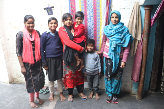 The Khan Family at their home in Farrukhabad